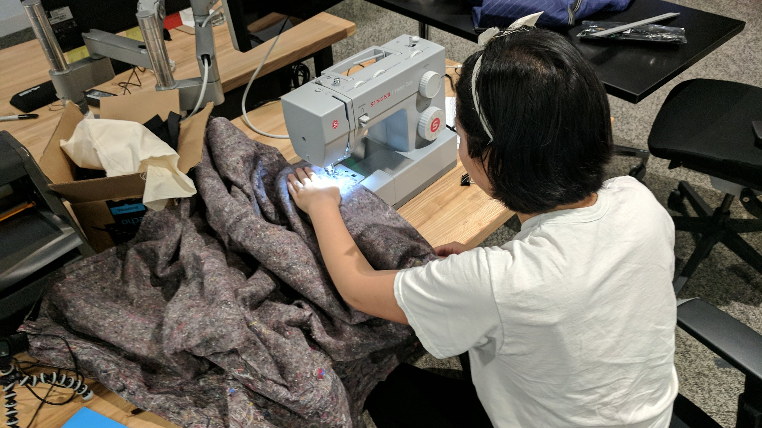 Sewing the carrying cases