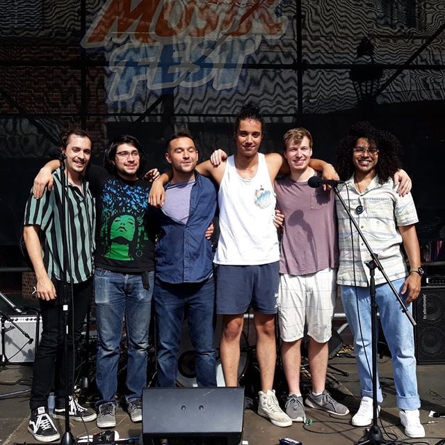 So thankful to have these guys (and a bunch others not pictured, and you guys reading this) in my life that make this music thing possible.  Thursday's @musikfest performance with the band on Main Street was some of the most fun I've had on stage. It keeps getting better.  #musikfest #grateful #goodfriends #goodtimes