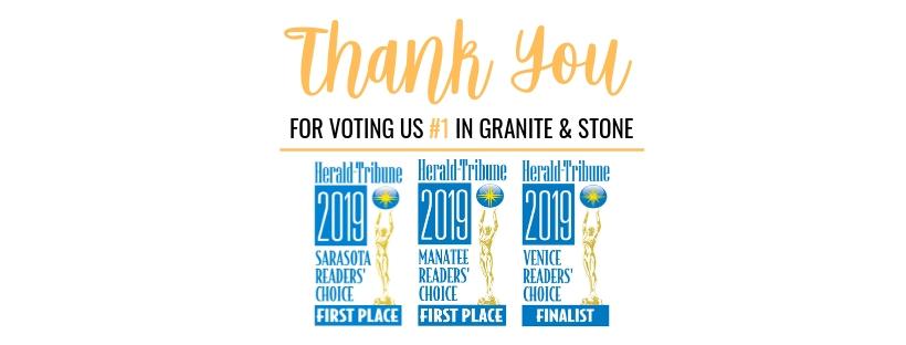 Herald Tribune Readers Choice Award Sarasota Manatee Venice Granite Stone Countertops Thank you.jpg