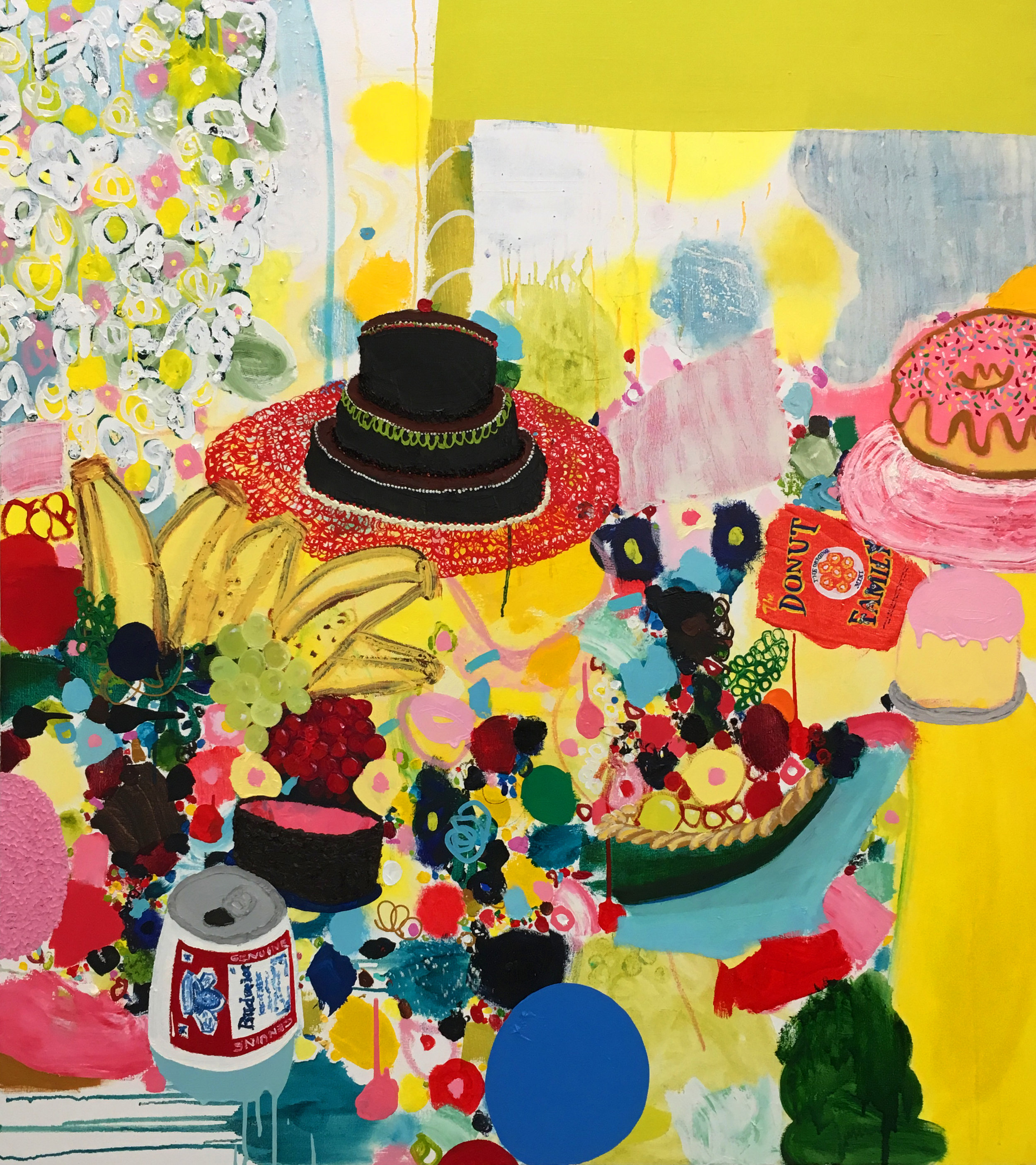 Tracy Miller,  Banana Stand , 2016, Oil on Canvas, 54 x 48 inches