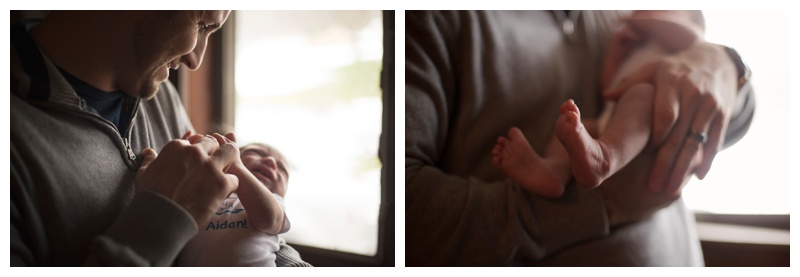 Rochester NY Lifestyle Newborn Photographer Newborn feet