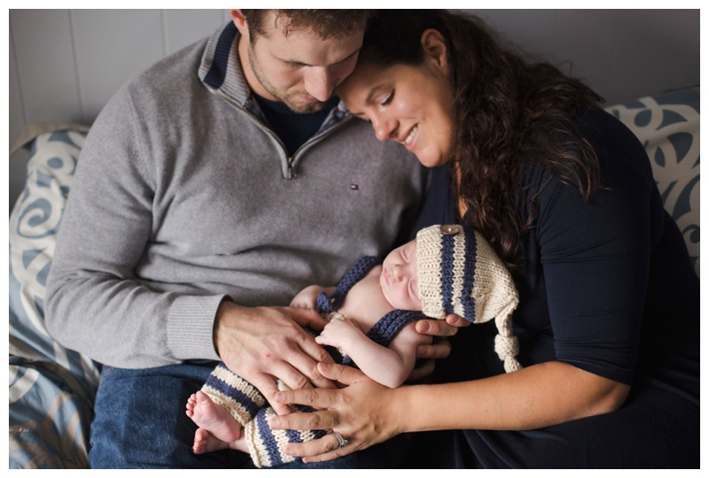 Newborn Photographer Rochester NY Little baby with mom and dad