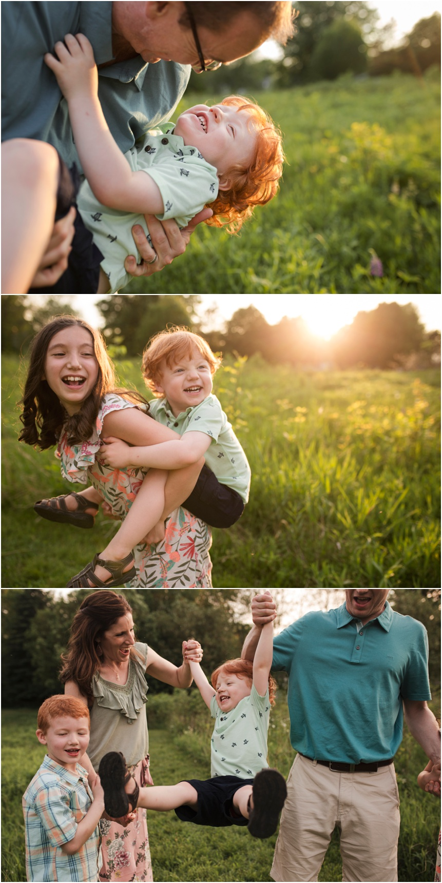 Oneonta family pohotographer, family spending time together