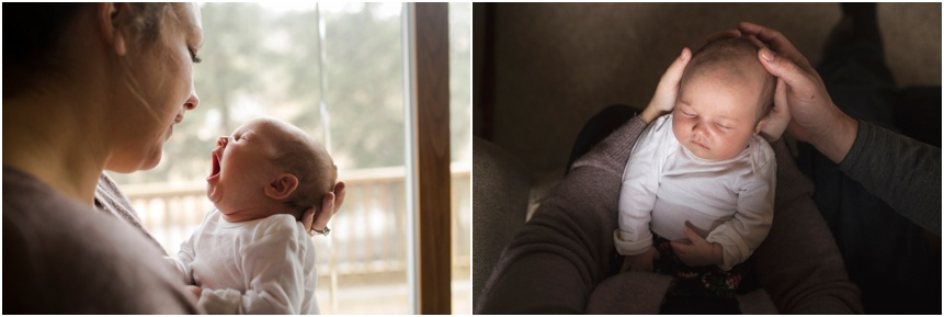 Mom and new baby snuggling, Cooperstown NY Newborn photographer