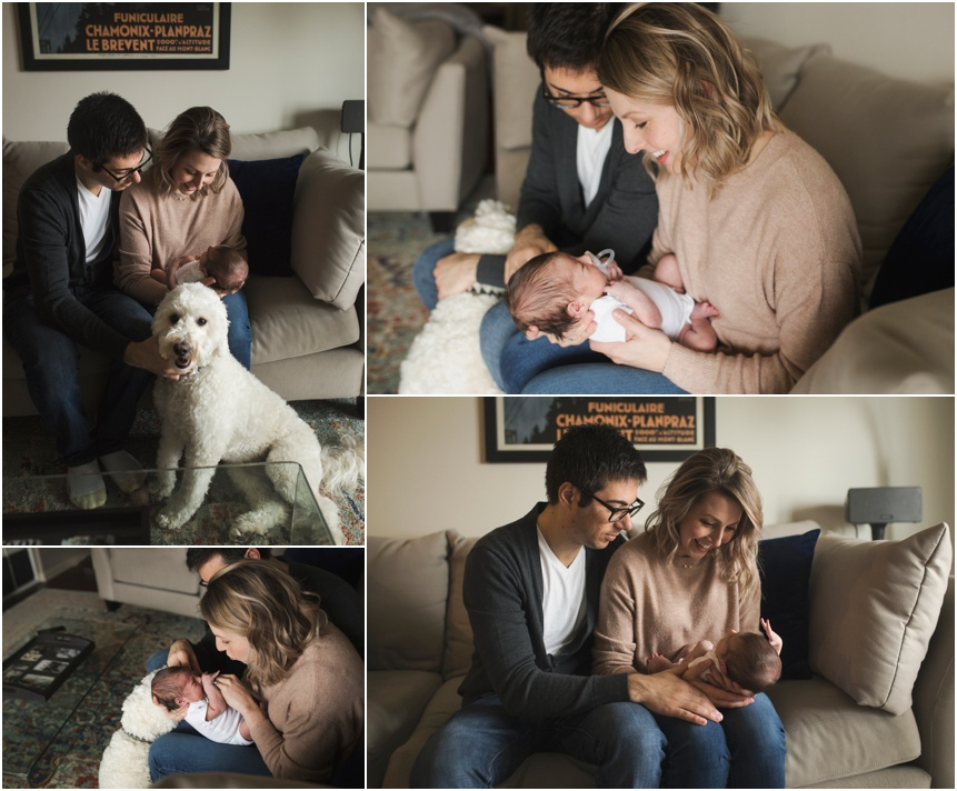 Cooperstown newborn photographer, family of four snuggling