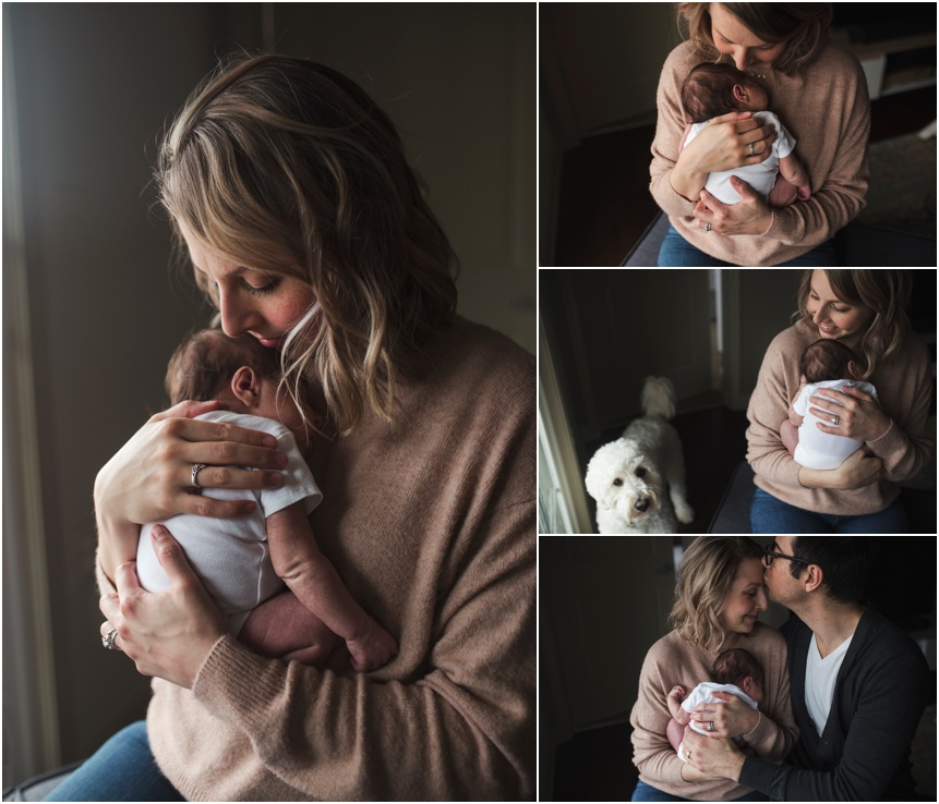 Upstate New York Lifestyle photography, beautiful new mom holding baby girl