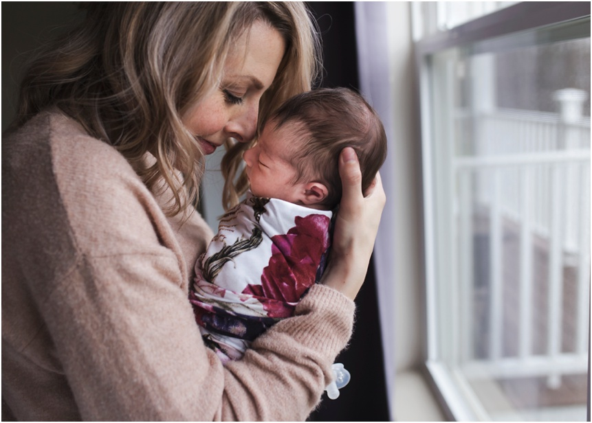 Oneonta NY Newborn photographer, mom smelling intoxicating newborn  smell