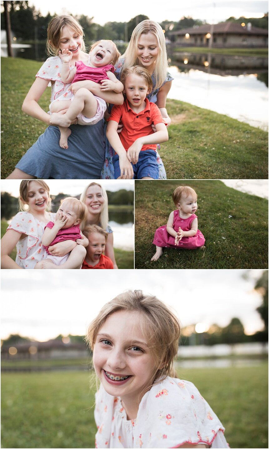 Upstate New York Family Photographer, kids laughing with mom