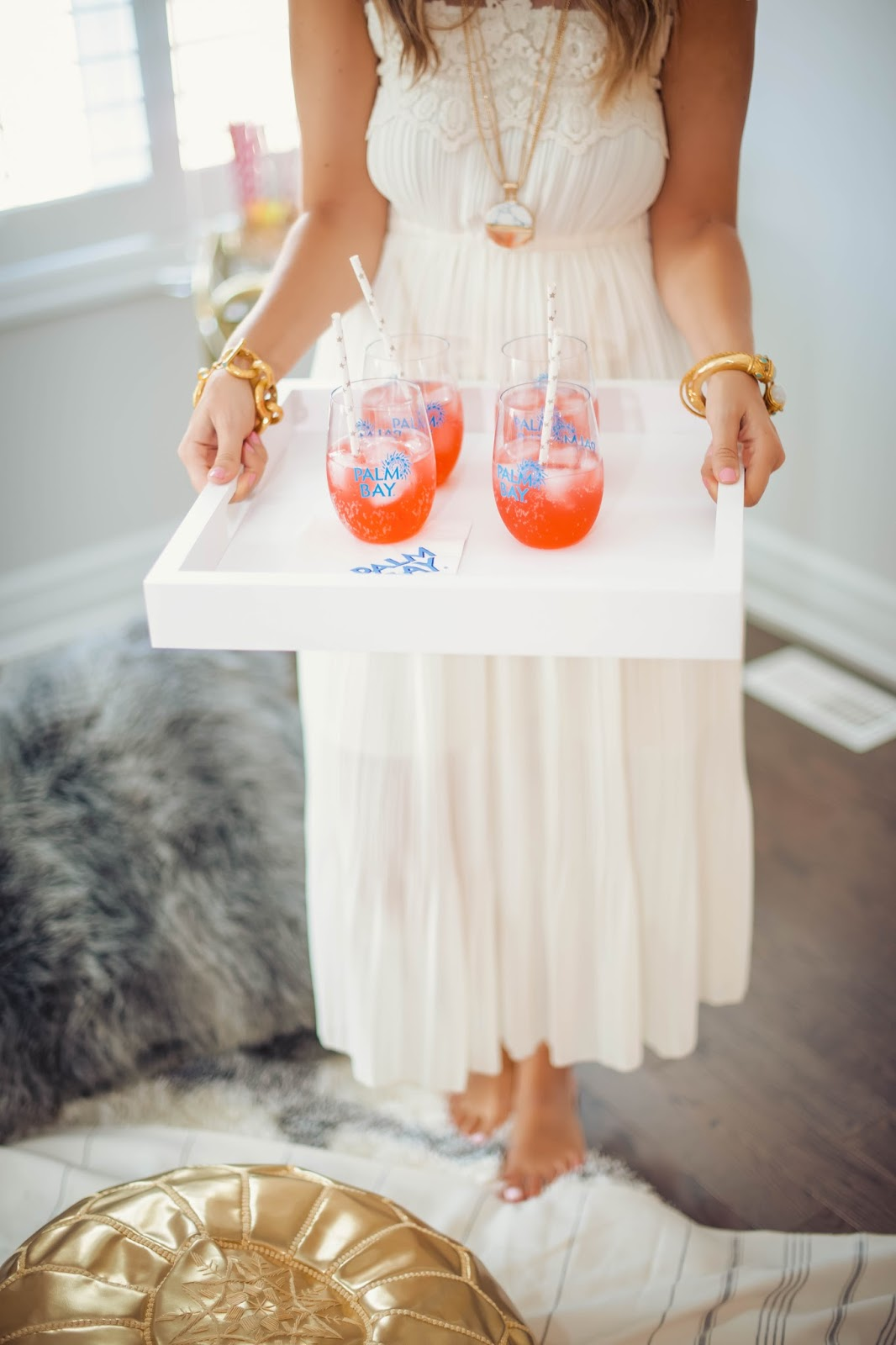 Krystin serving up some fun Palm Bay cocktails!