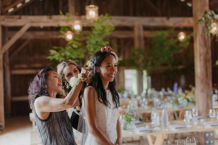 modern-rustic-wedding-catskills-venue-venues-farm-table-bridal