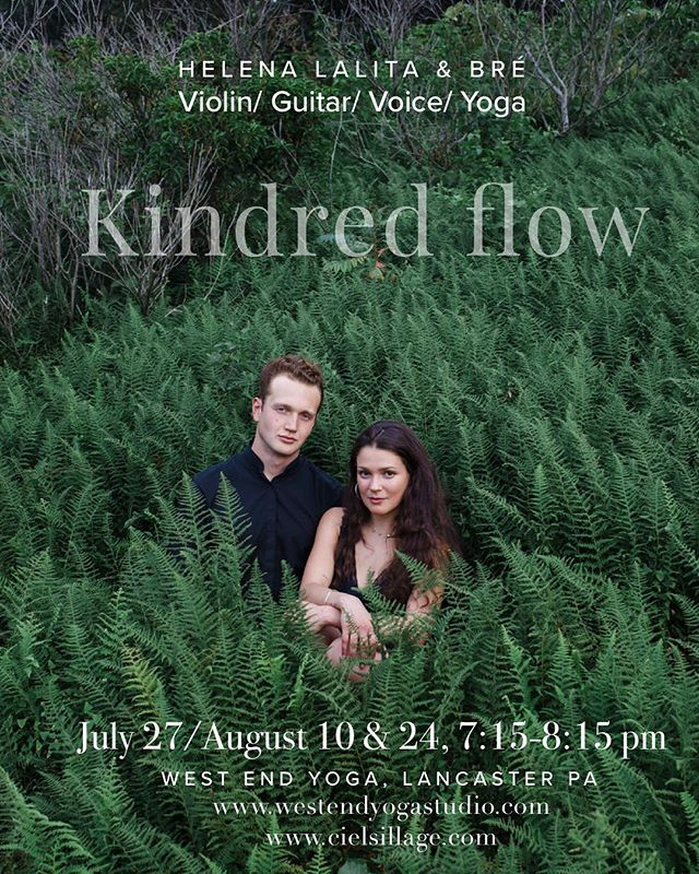 Wyatt and I will be sharing a few yoga classes these following Fridays @westendyogastudio I'll be teaching yoga while Wyatt  @wyattdranchek serenades is on guitar through gorgeous soundscapes and layered dreamy journeys through sound. We will play together at the end during savasana. Come and slip in!