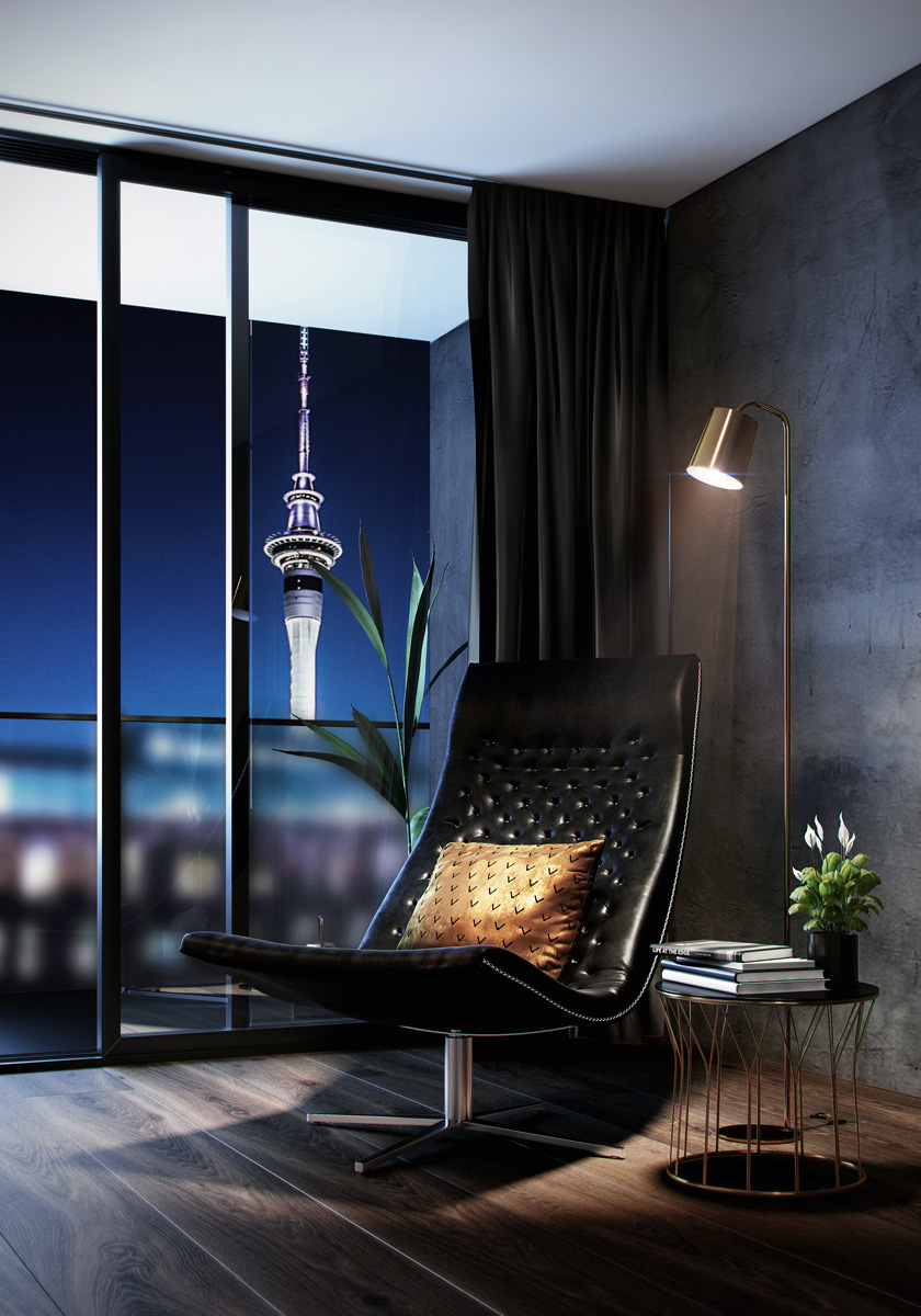 The Vulcan Auckland City Apartments View of the Skytower
