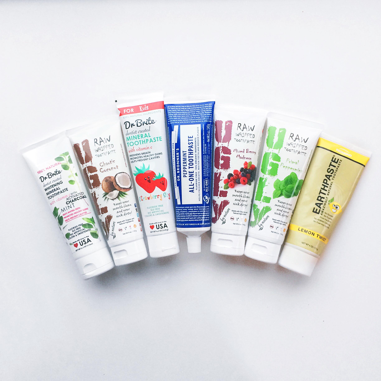 natural toothpaste, basking in goodness, fluoride free, sis free, non-gmo