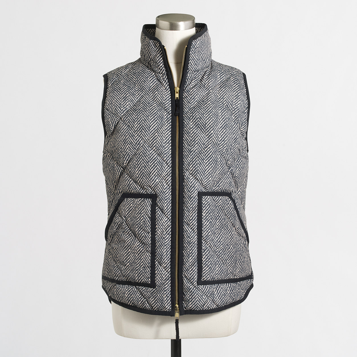 JCrew Printed Quilted Puffer Vest
