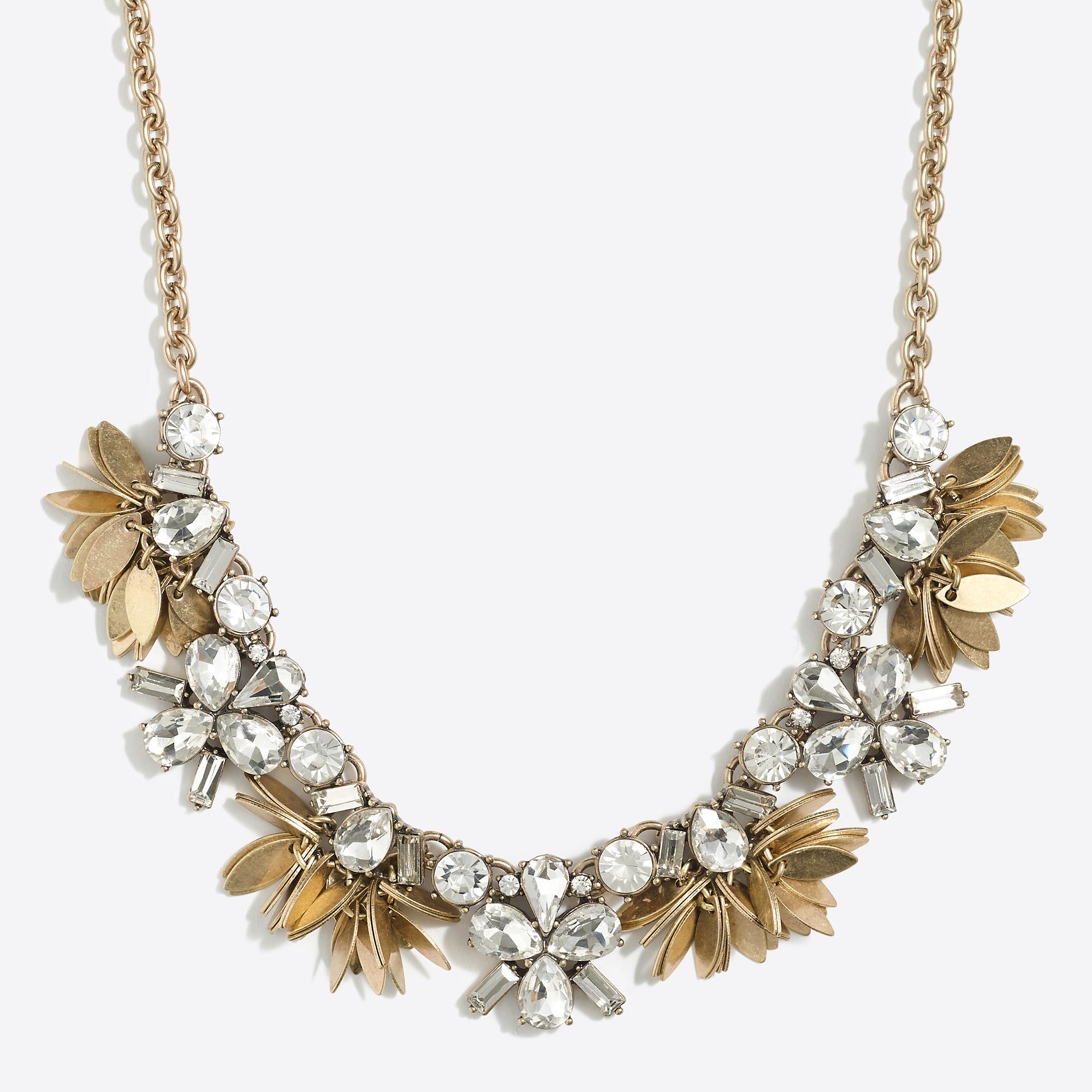 JCrew Factory Crystal Bouquet Nekklace