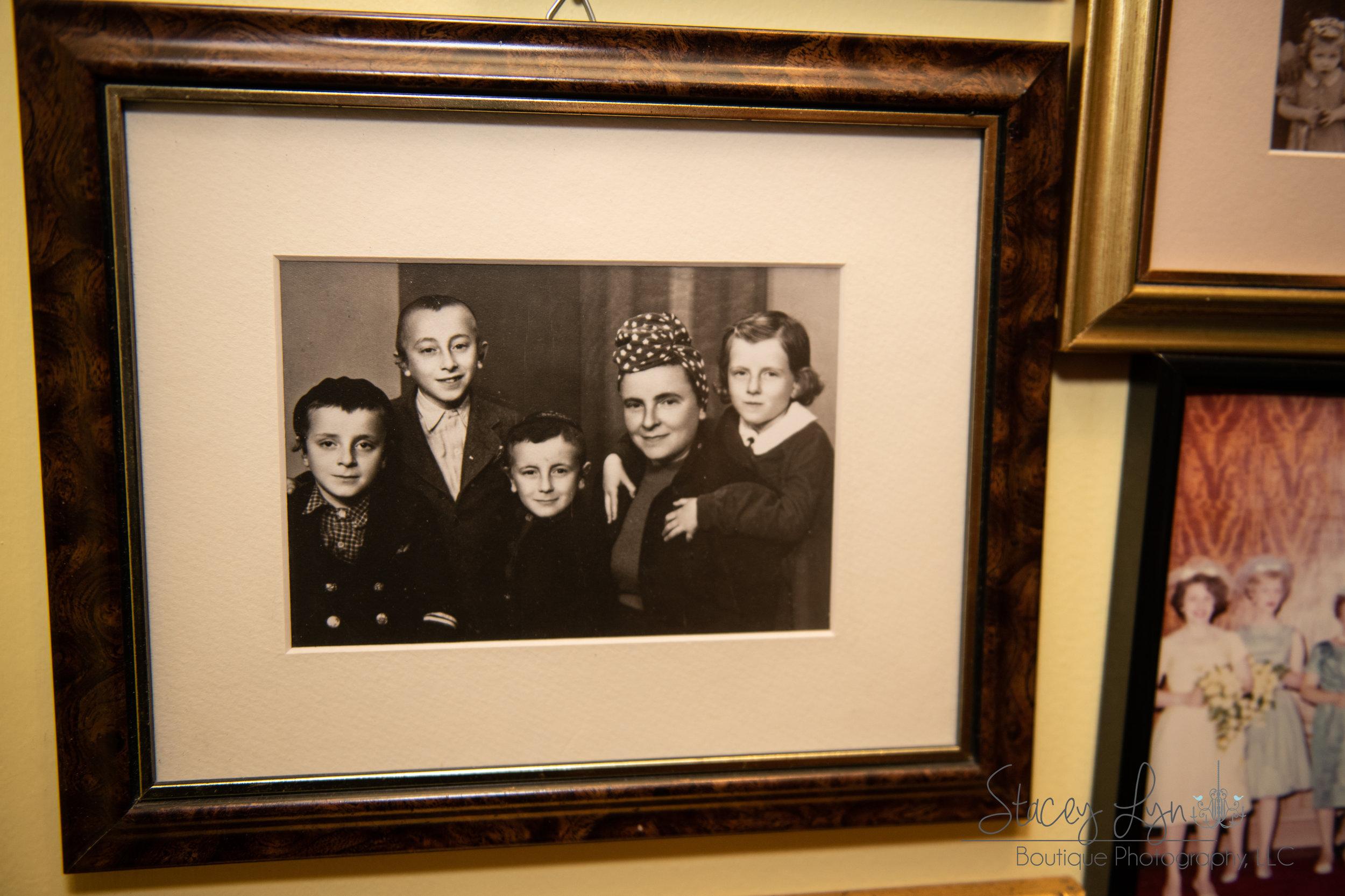 Judah Samet's family after surviving the Holocaust. (Judah, far left)
