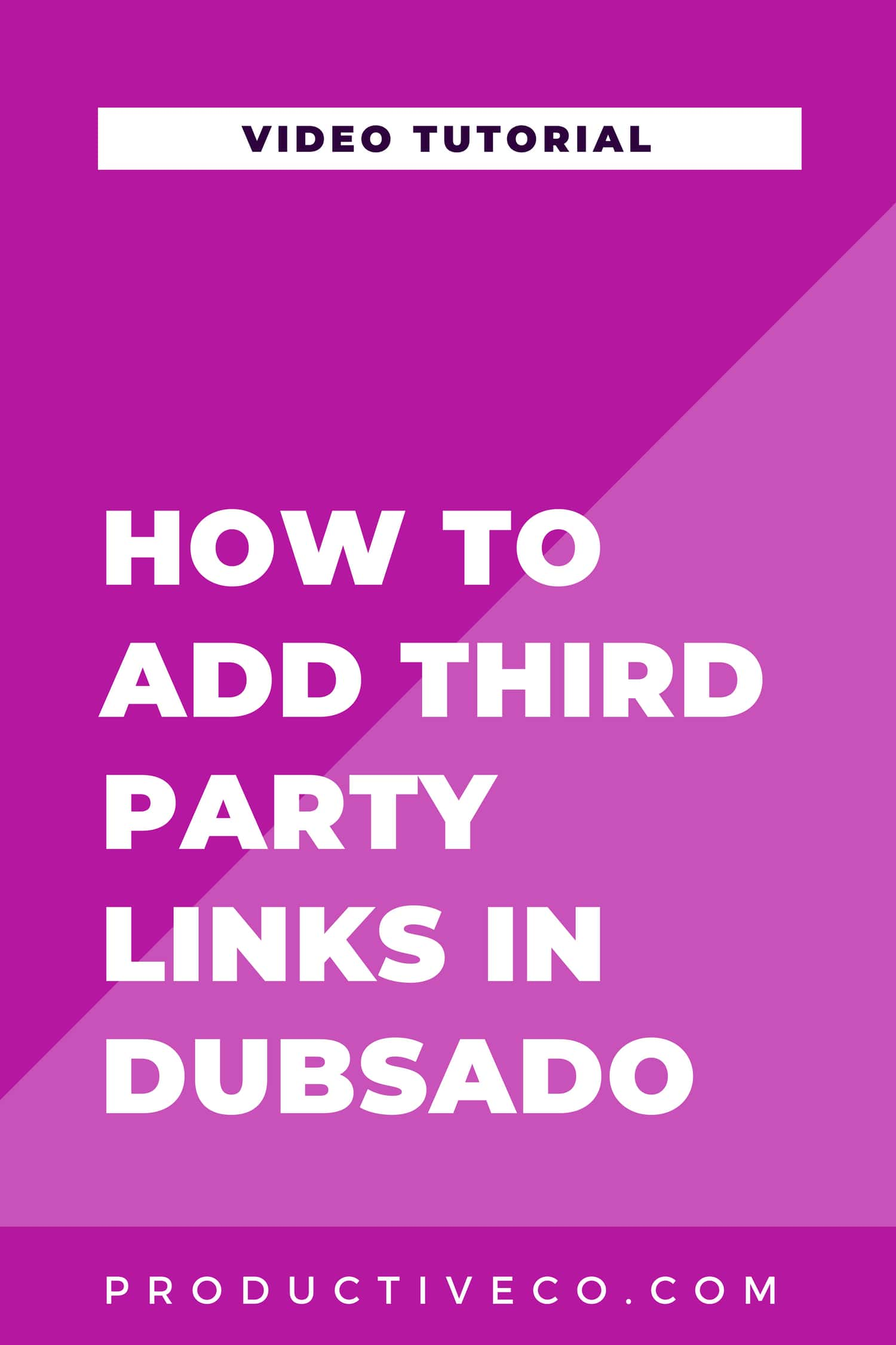 Add third party links in Dubsado to connect your account to other software, folders, etc. Your clients will be able to access these links from their client portals! Find out how.
