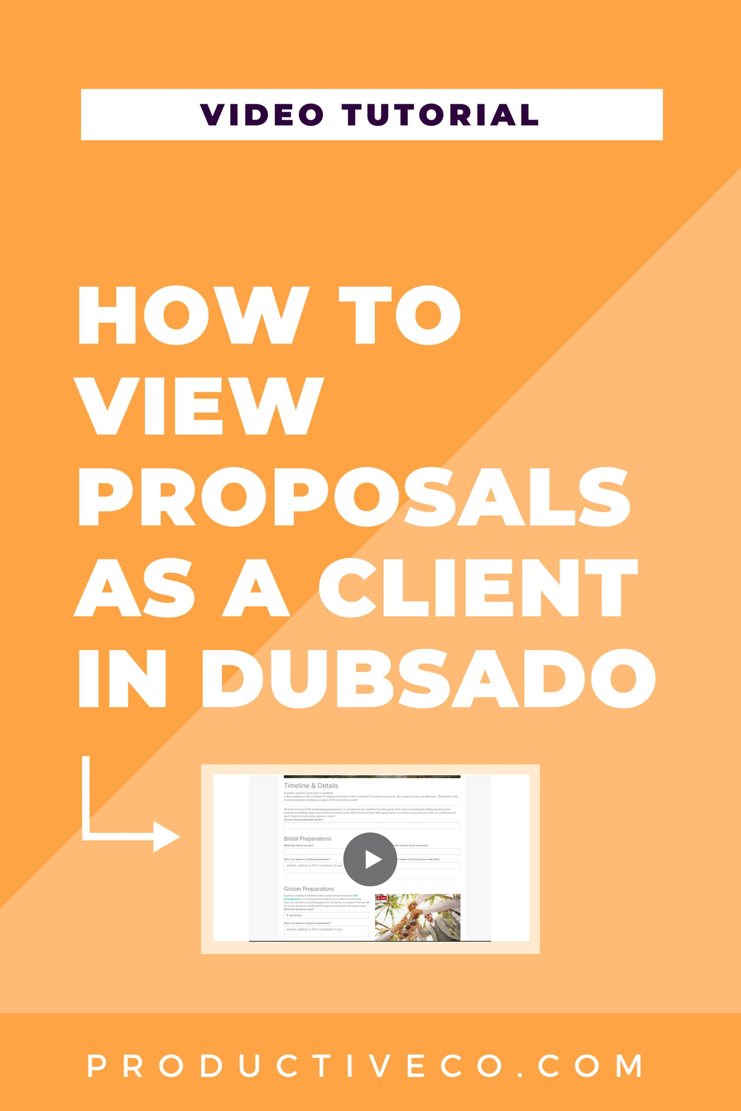 How to view proposals as a client in Dubsado. These instructions will work for all types of forms in Dubsado: contracts, sub-agreements, questionnaires, proposals, and lead captures.