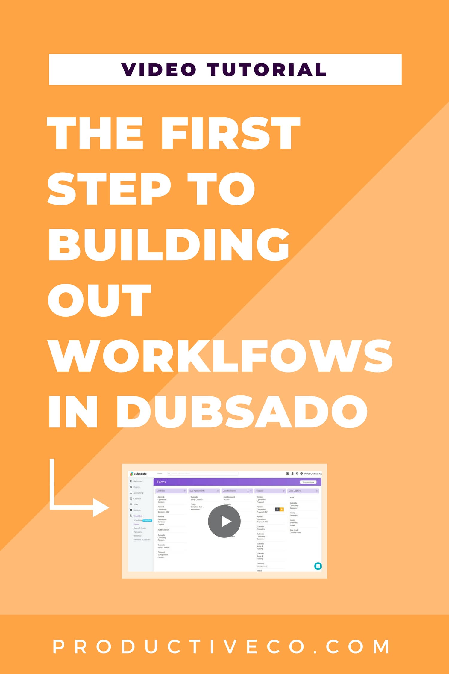 How to Map Out Your Business Processes in Dubsado Video. This is how you start workflows in Dubsado.