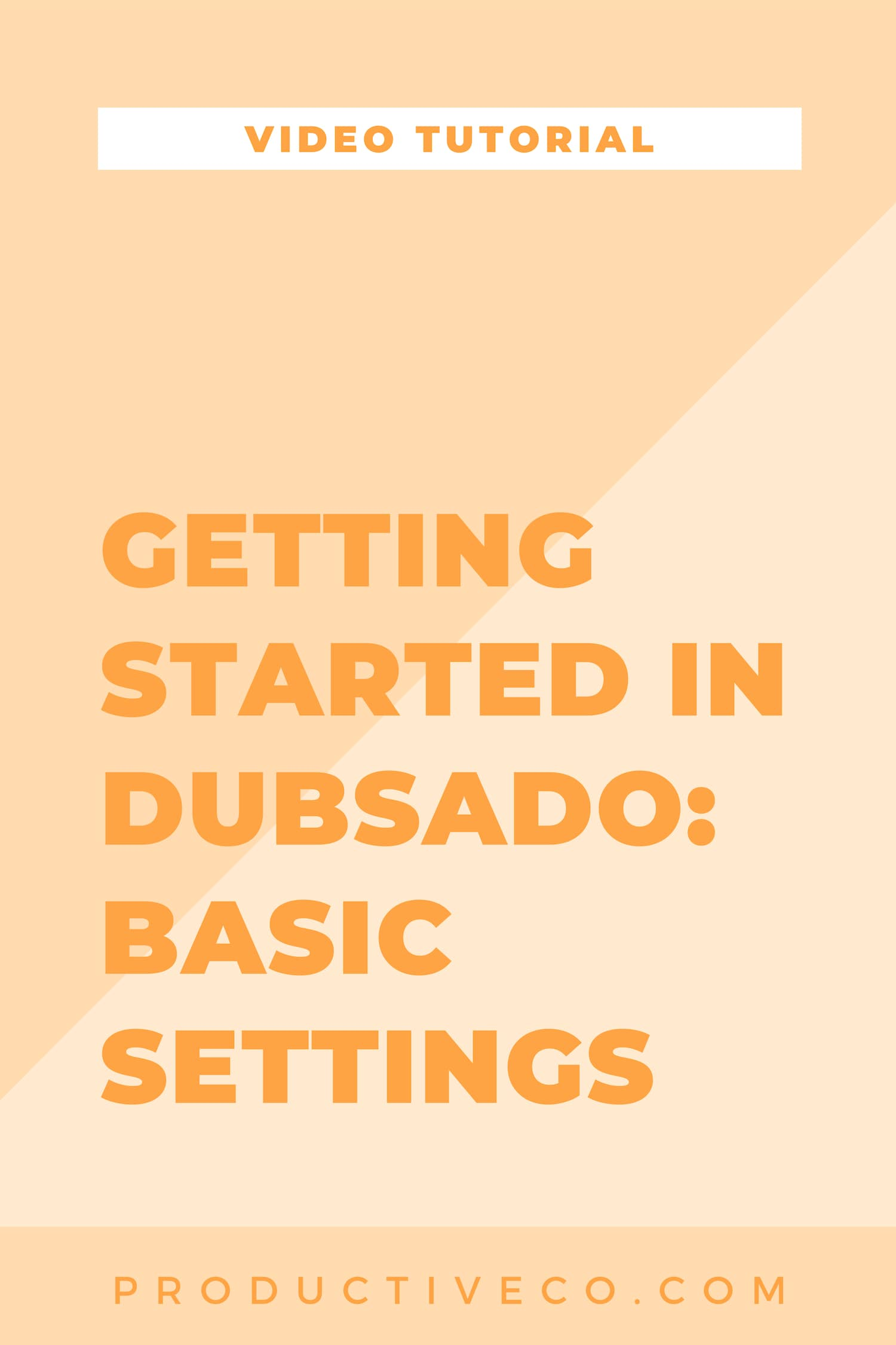 Get started using Dubsado today by getting your settings selected in the next 20 minutes.
