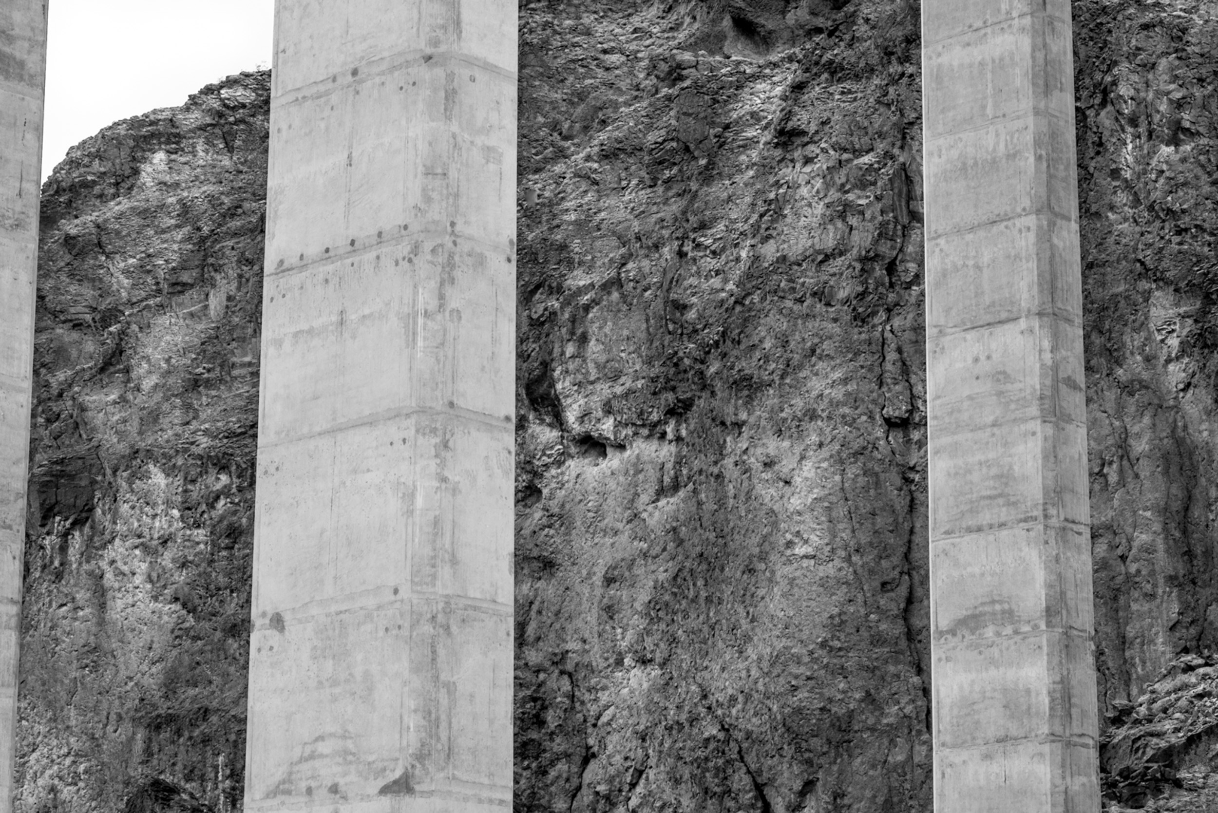 Columns and Rock Wall Near Hover Dam, Nevada © Robert Welkie 2017