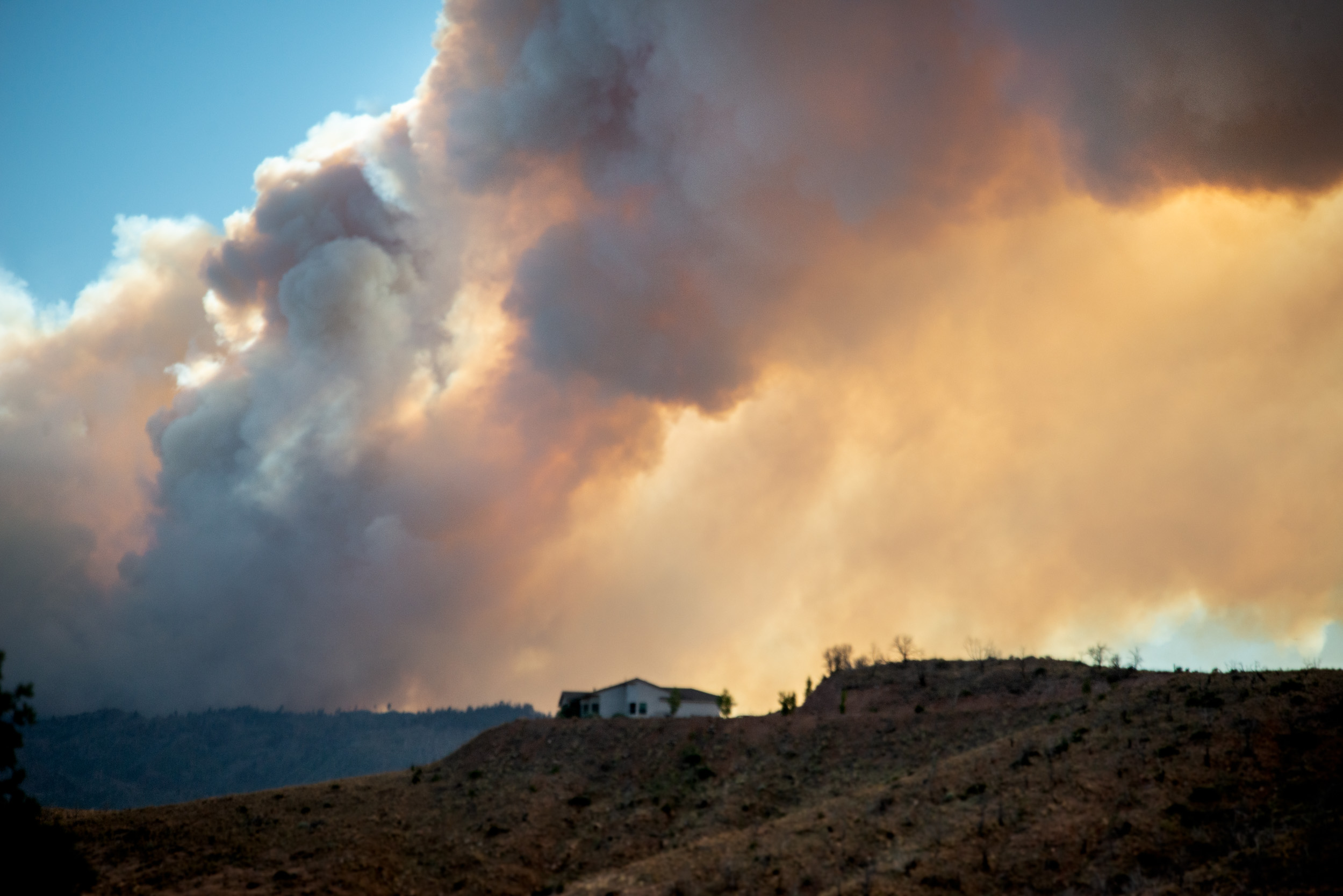 Fire Near House above Rest Area Near Kanarraville, Utah © Robert Welkie 2018