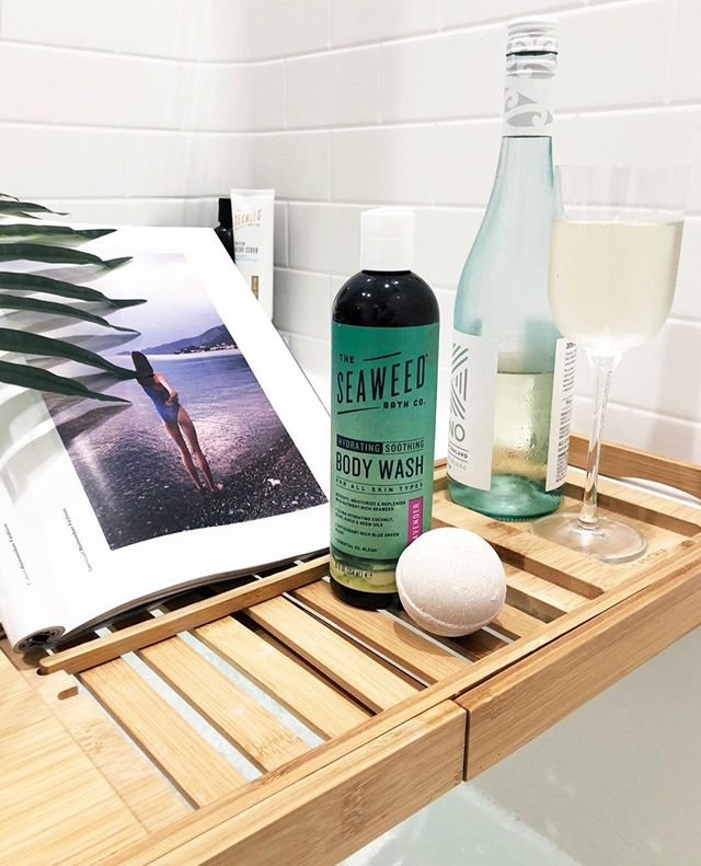 It's #nationalwineday - and there's no better pair than a glass of wine and a hot bath (with a Seaweed bath bomb of course).⁣⠀ .⁣⠀ .⁣⠀ .⁣⠀ #theseaweedbathco #seaweedbathco #seaweedselfcare #naturalbeauty#pampering #greenskincare #oceaninspiredbeauty #seaweedlove⁣⠀ #seaweed #veganbeautyaddict #veganbeautyproducts #veganbeautyaddict #ecobeautywellness #ecobeautyblogger #crueltyfreecosmetics #crueltyfreeskincare #leapingbuddyvertified ⁣⠀ #leapingbunnyapproved ⁣⠀