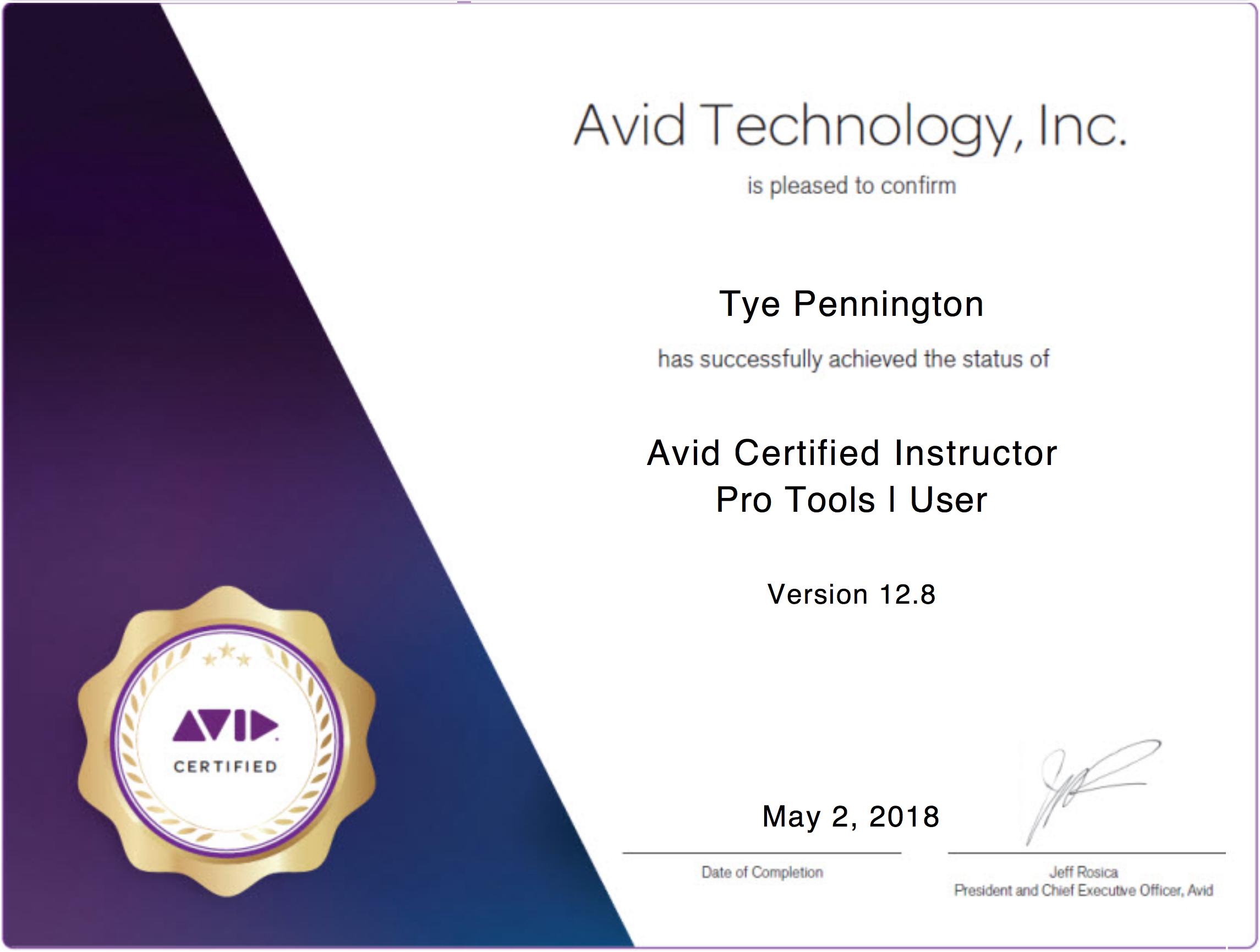 Avid ACI Certification