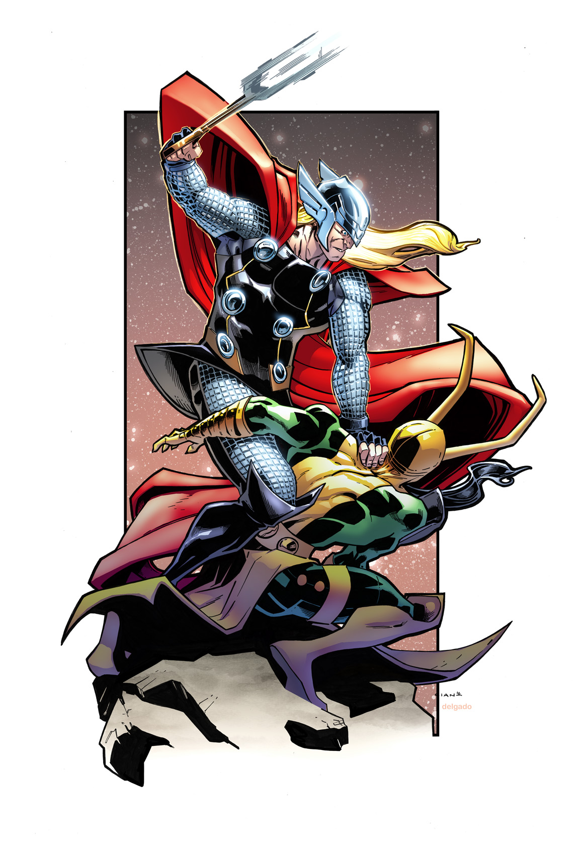 Thor V Loki - By Cian Tormey, colours by Edgar Delgado