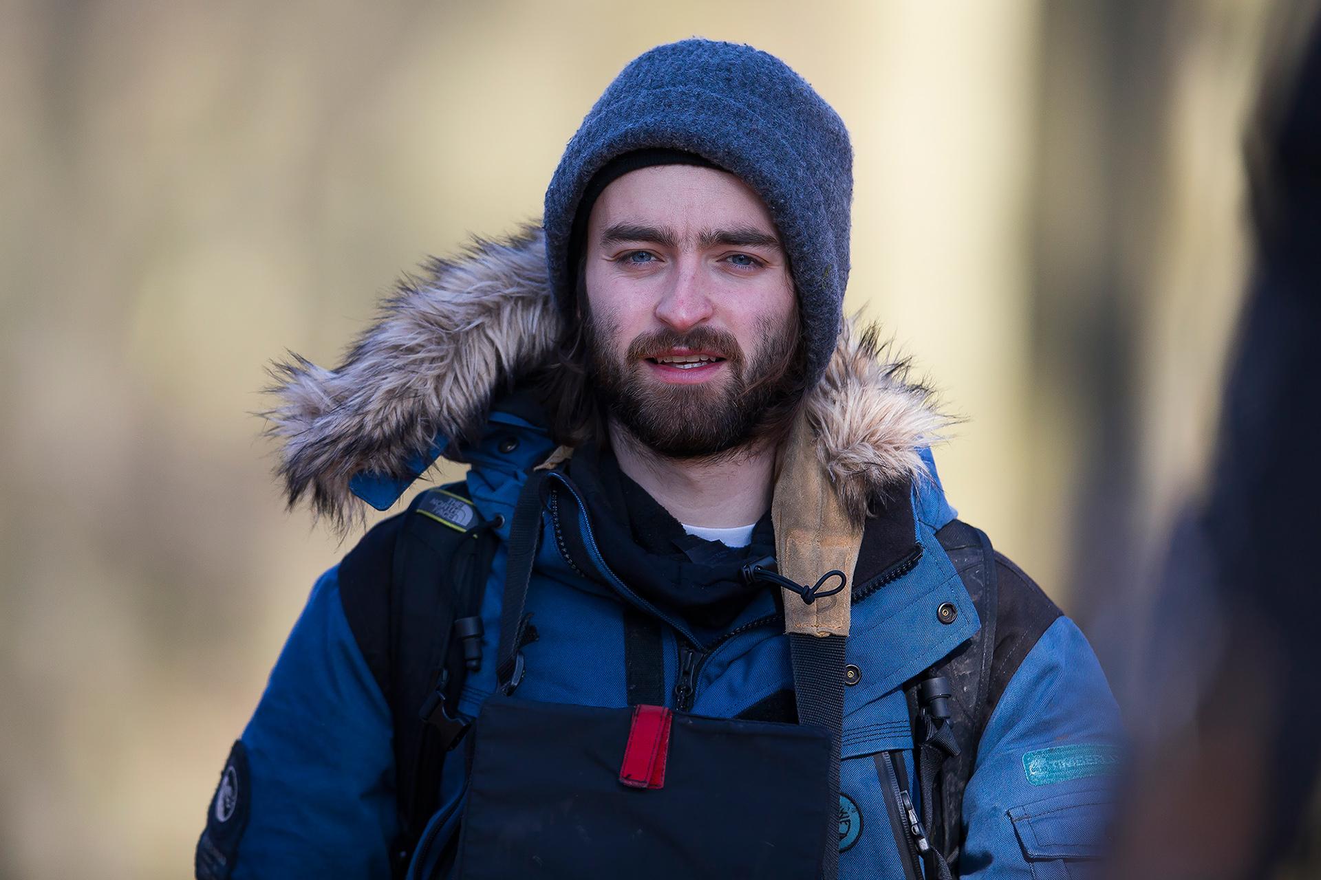 Director David Hayes on location in Romania