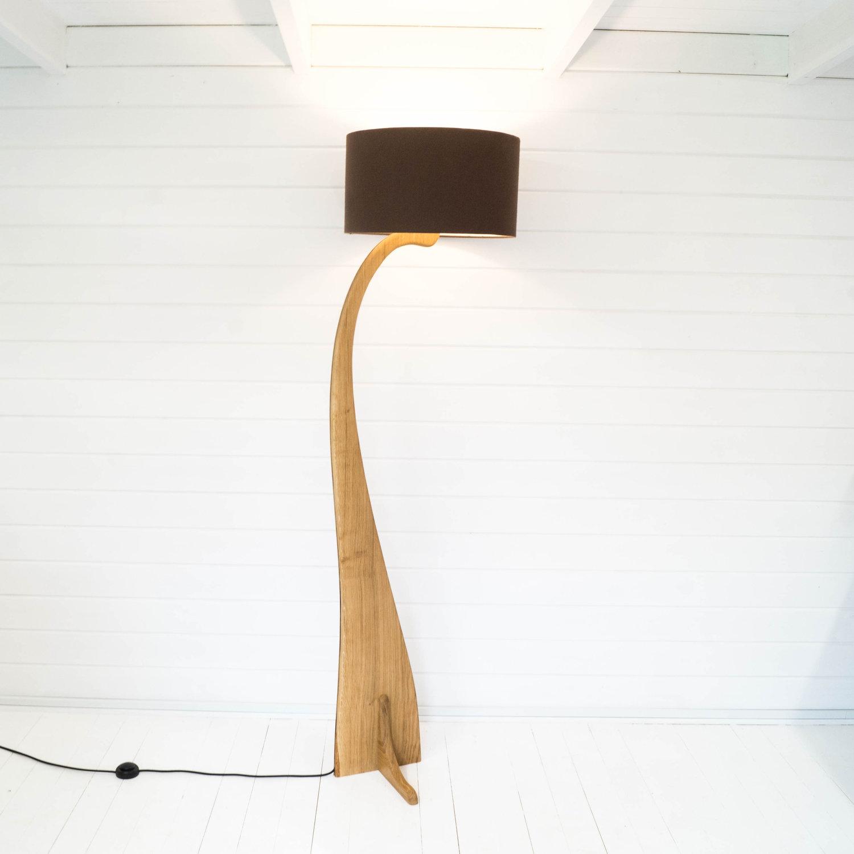 Flow Floor Lamp In Oak Liv Cornall