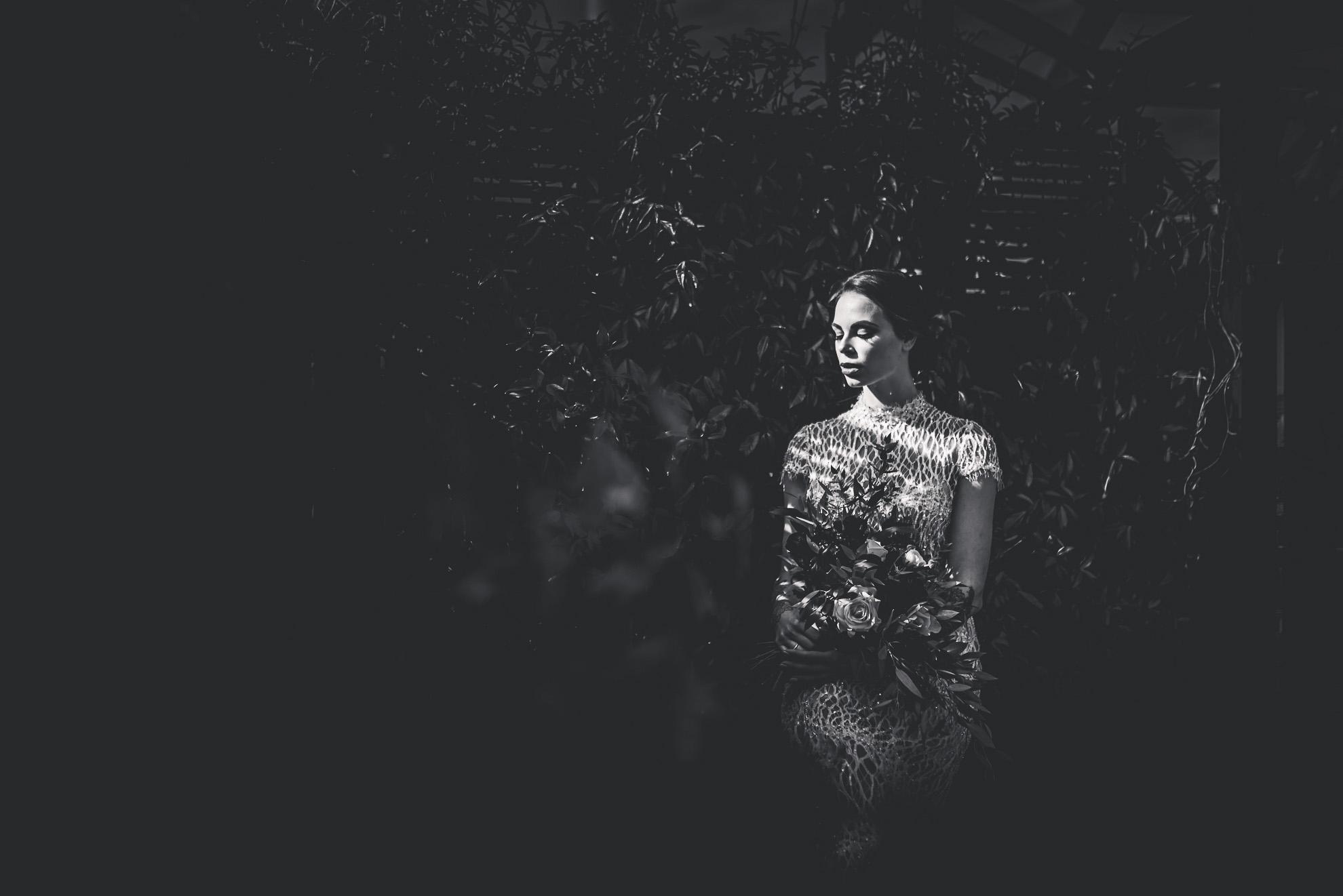 bridal portraiture in the dappled light