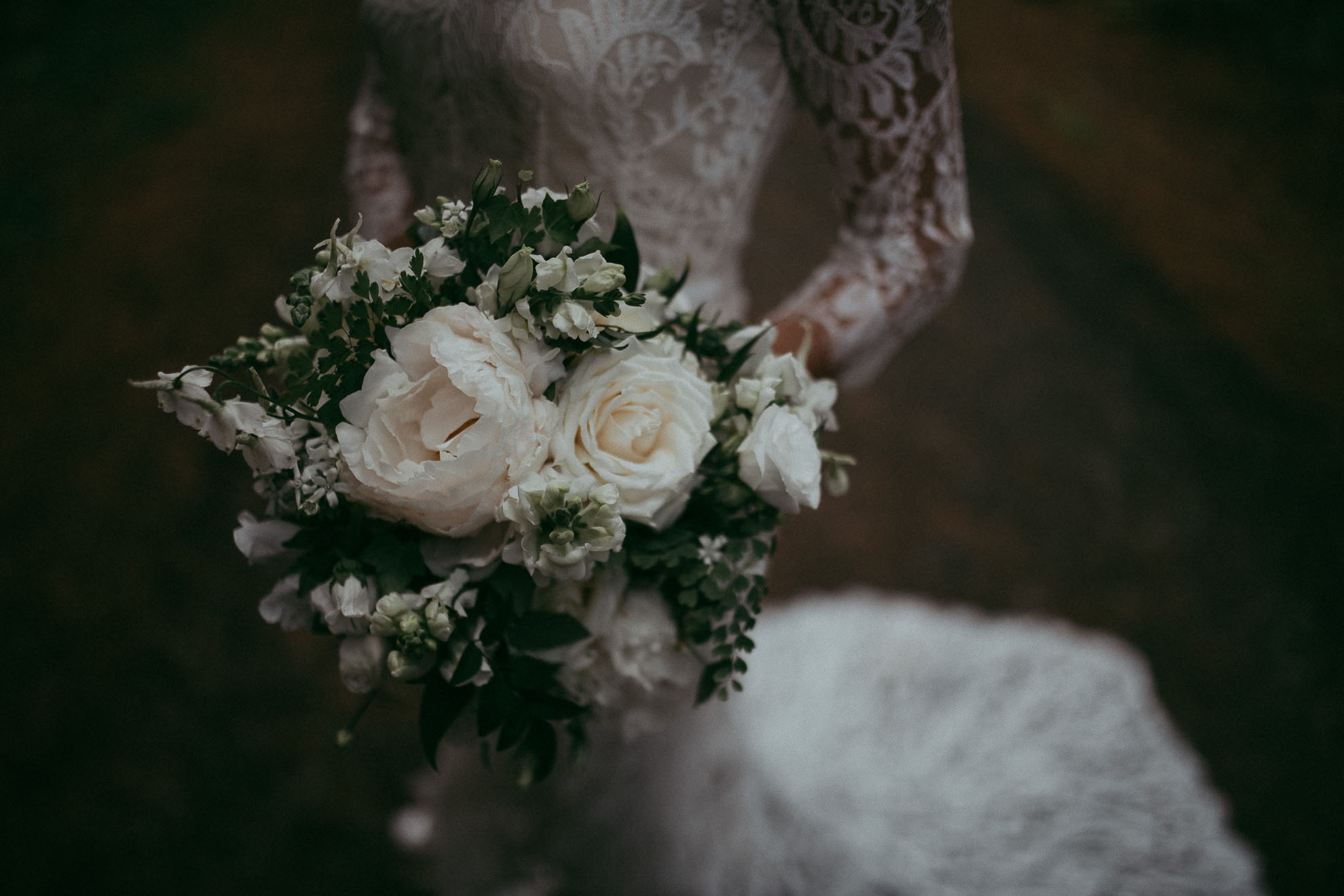 bridal details flowers