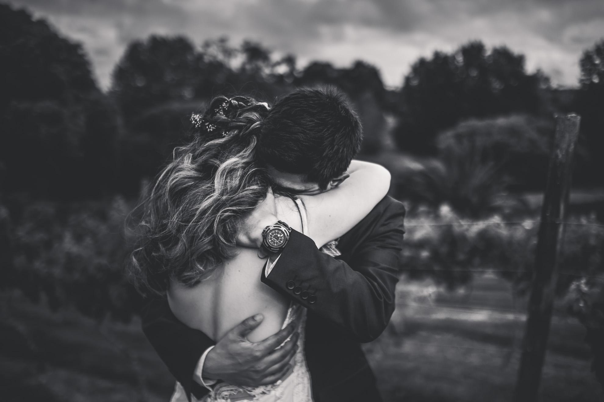 black and white emotional portrait