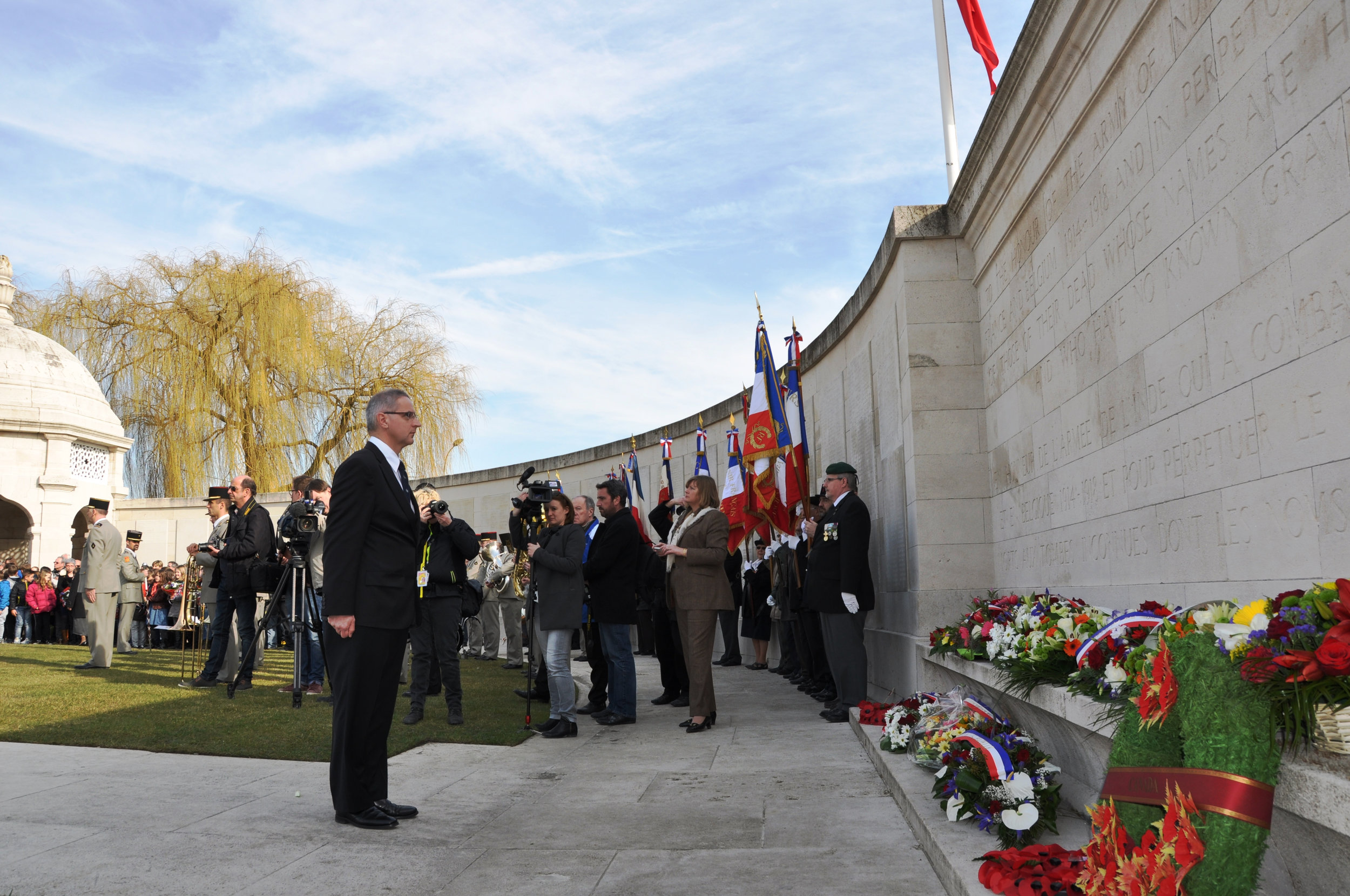 Ian Hussain at Neuve-Chapelle Memorial