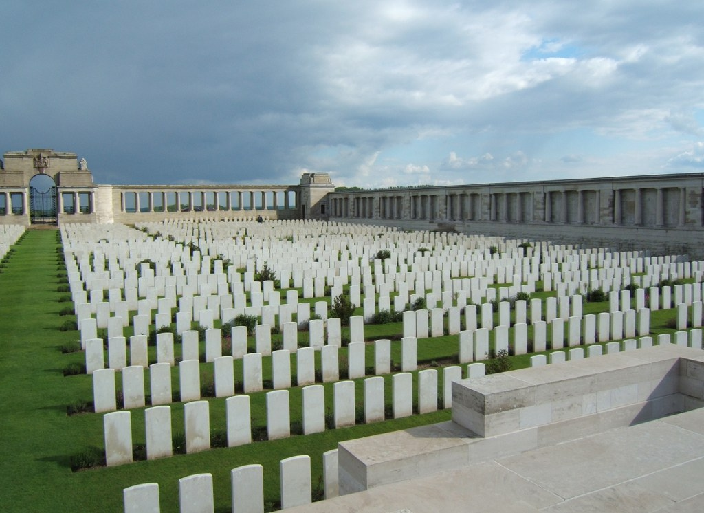 CWGC Pozieres Memorial in Pozieres British Cemetery