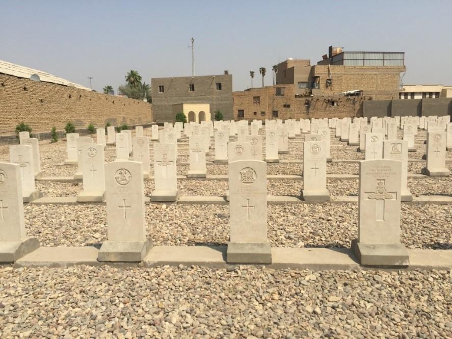 The now fully restored CWGC Kut War Cemetery