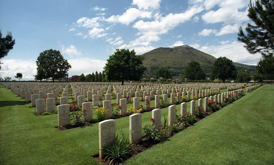 Today's permanent headstones at Cassino