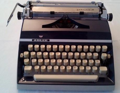 An Adler typewriter
