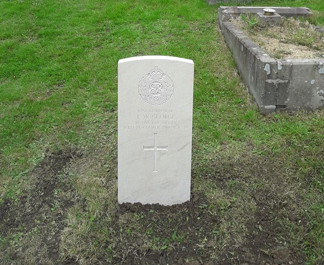 A Commonwealth War Graves Commission headstone has this week been installed for Corporal Thomas William George, Royal Engineers who was not previously commemorated by the Commission.  His final resting place at at Swansea (Cwmgelli) Cemetery in Wales will now be marked in perpetuity with a Commission headstone.