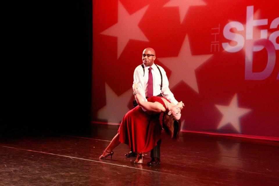 Errol Louis' salsa moves at the 3rd annual Stars of New York Dance
