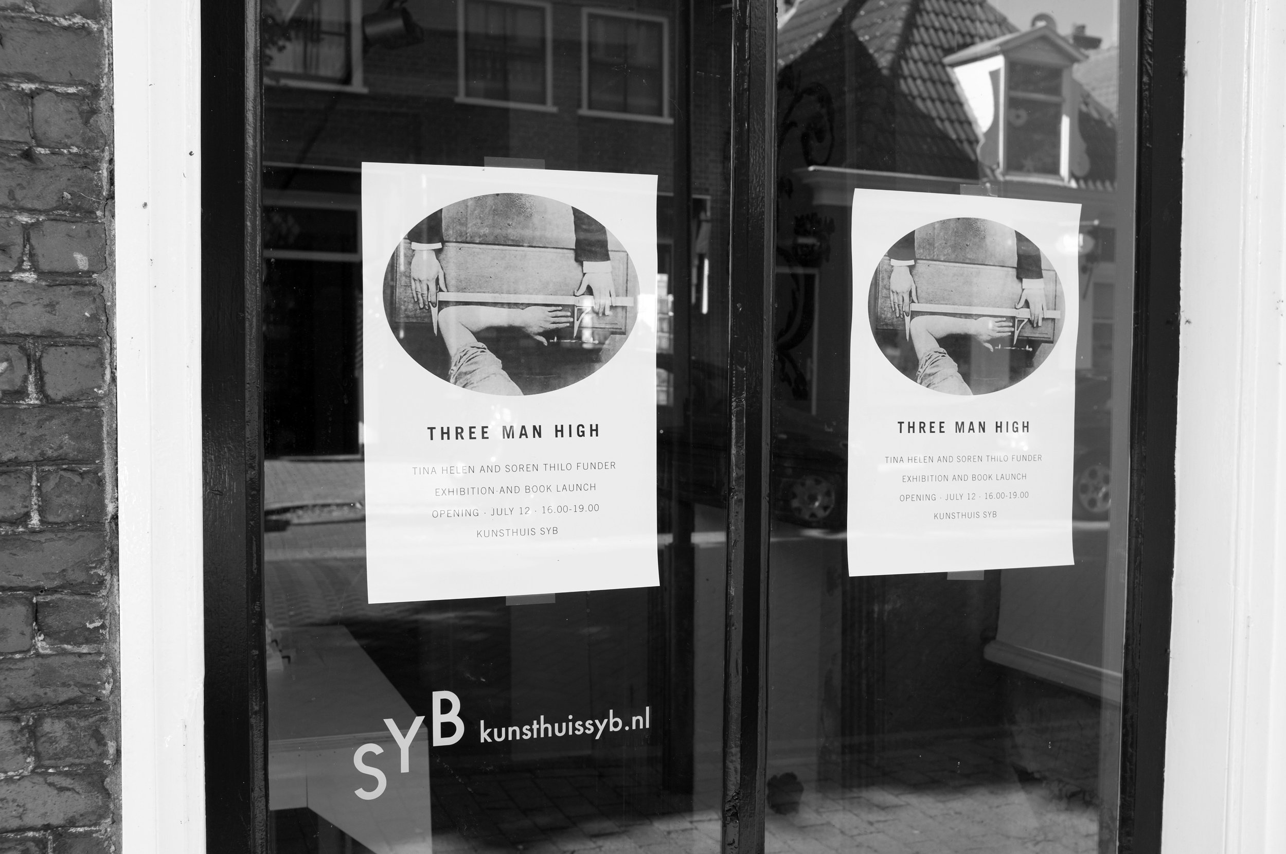 Three Man High. Poster, Kunsthuis SYB, 2014