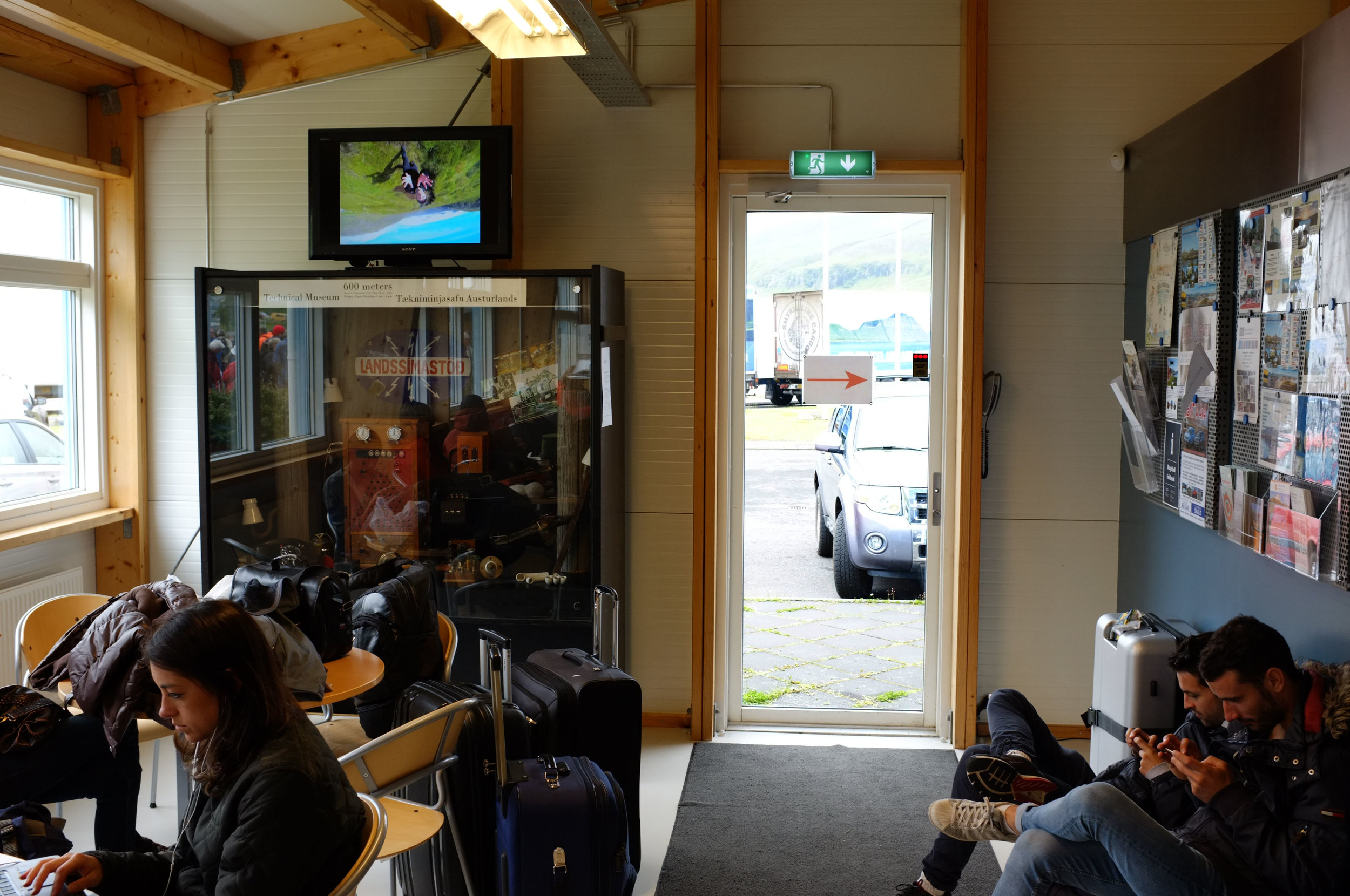 Scenic Pitch. HD Video, Installation view at  Seyðisfjörður Information Centre , Iceland, 2017