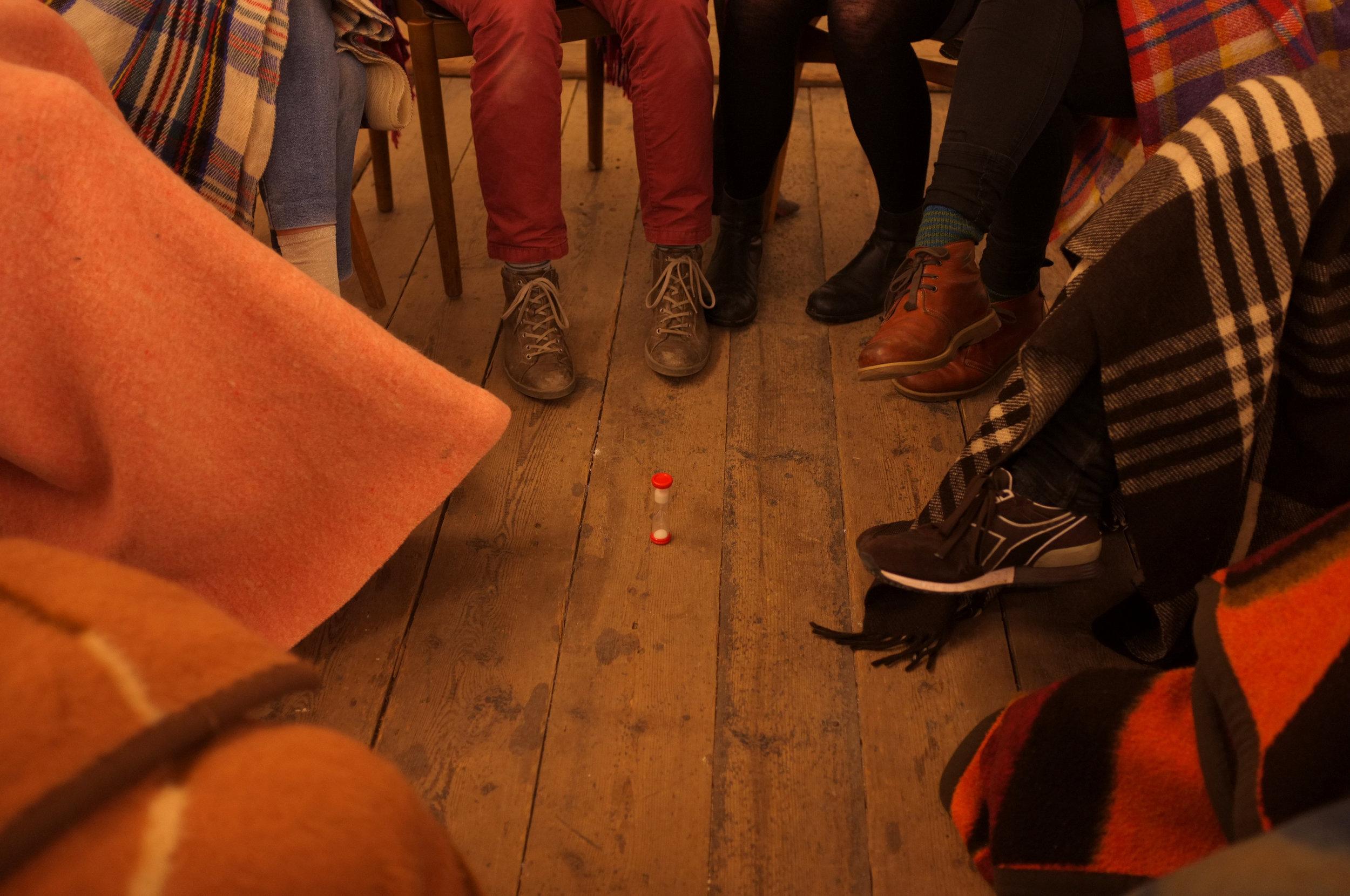 Frisk Flugt - Growing Silent. Hannah Anbert performance at New Shelter Plan, 2015