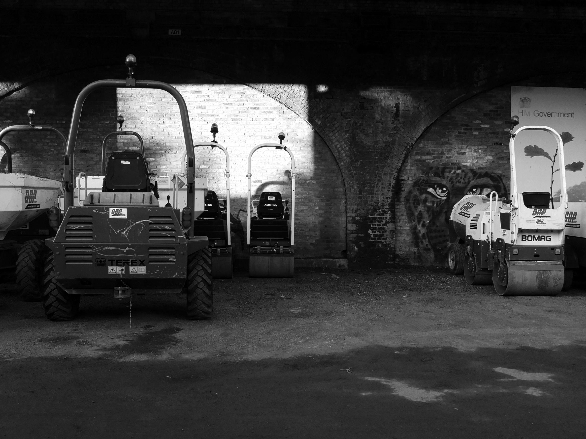 """Not to find one's way. """"Deutsche Guggenheim"""", B/W Photograph, 2012"""