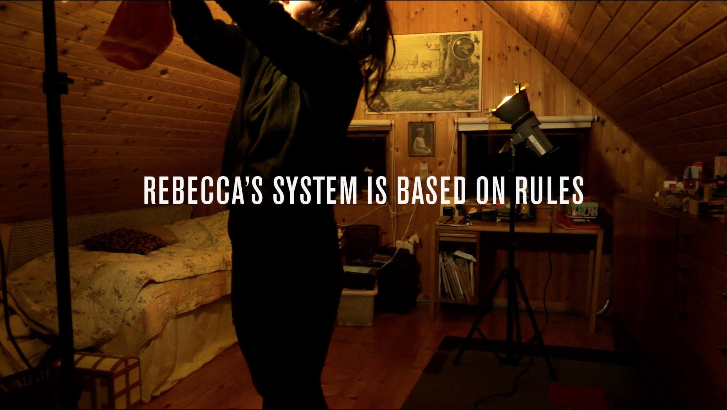 "Rebecca's System. ""Rebecca's System"", HD Video, 21'00"", Still from video, 2016"
