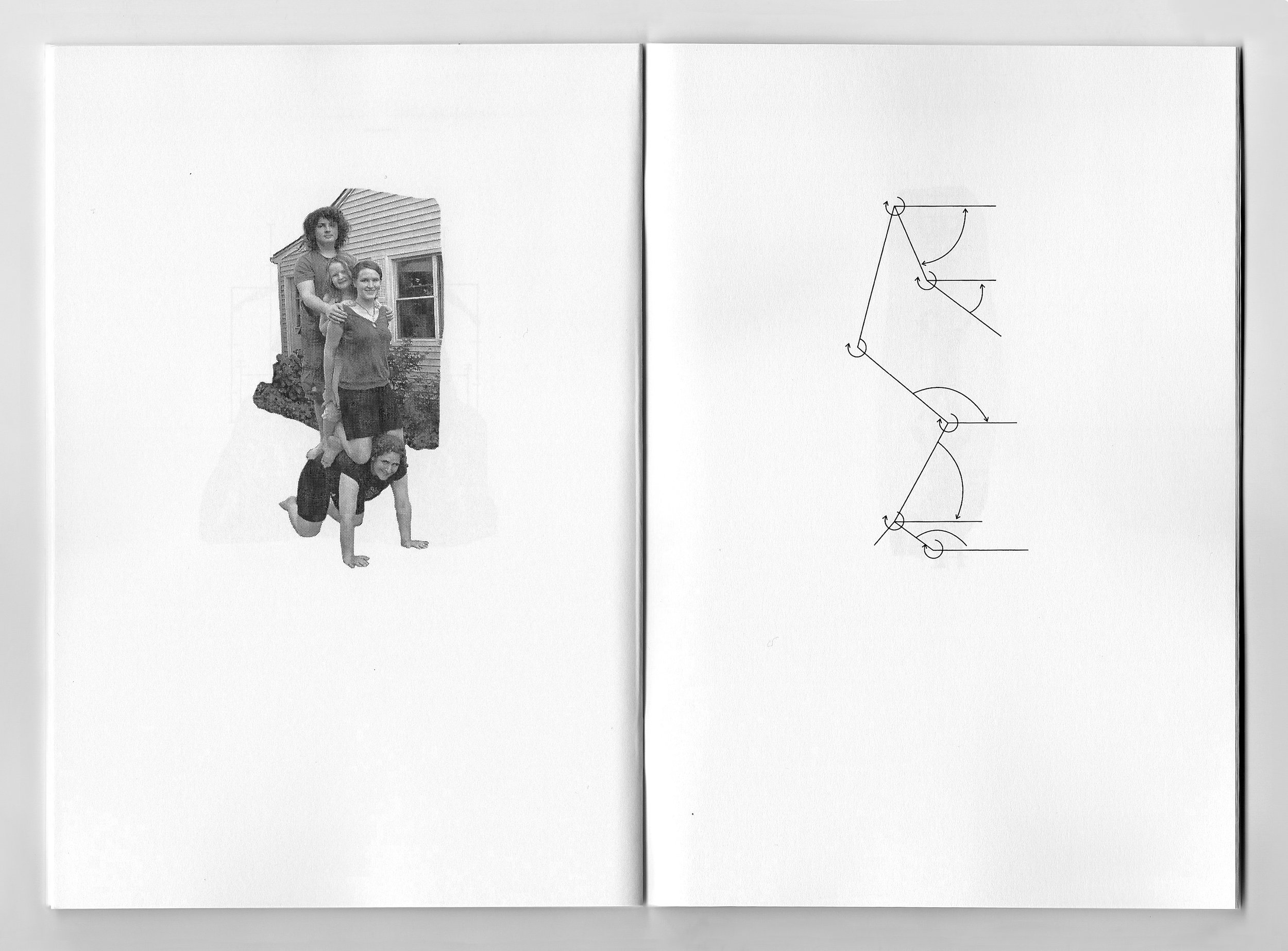 Three Man High. Book spread, Book I, 2014