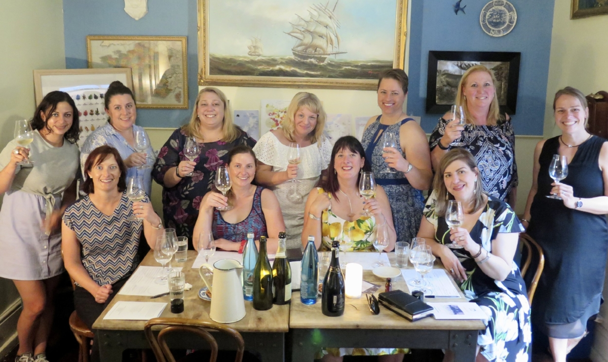 Networking done right. These amazing ladies booked their very own Canny Grapes Sparkling & Champagne Wine Tasting Class at Swallow Bar