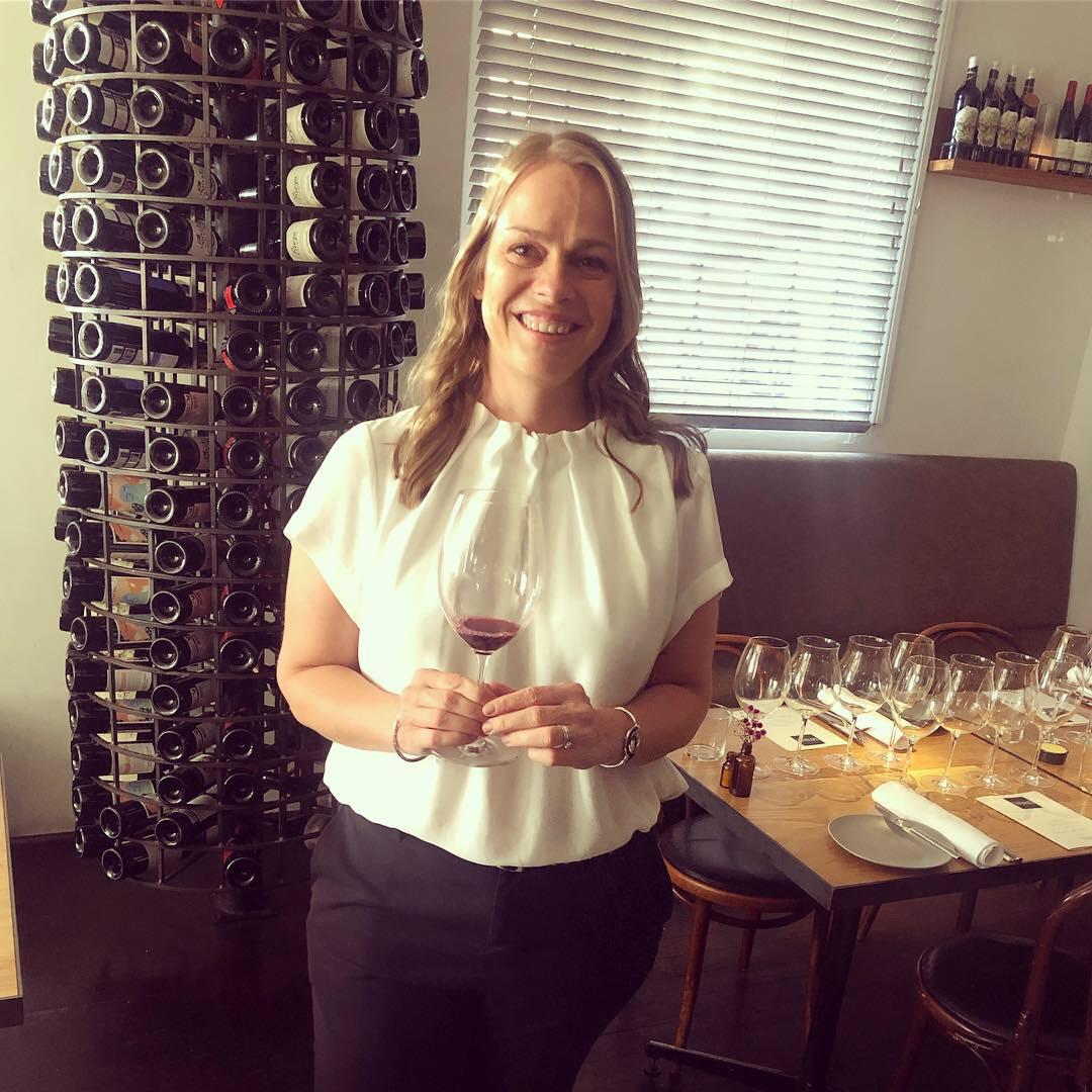 Anja Lewis hosting Perth's Gourmet Traveller Wine Leading Ladies in Wine Dinner