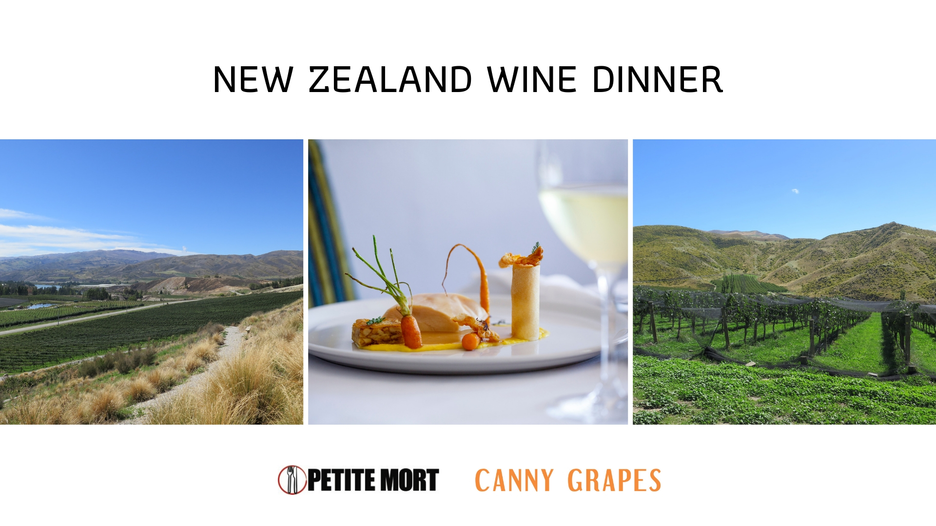 New Zealand Wine Dinner Petite Mort Perth with Anja Lewis from Canny Grapes